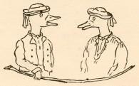 La Tortue et les deux Canards - Illustration de bas de page